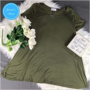 Amie Finery Tops - Amie Finery Olive Green Tunic Style Tee Shirt L